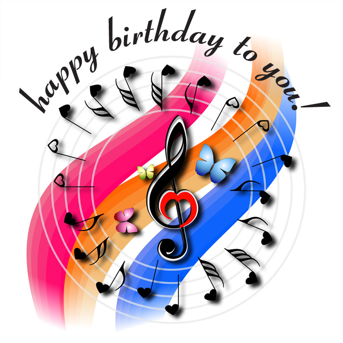 happy birthday song clipart - photo #27